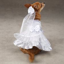 East Side Collection Dog Wedding Dress Headpiece Adjustable Yappily Ever After