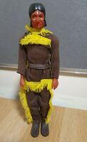 "Vintage Bootleg Tonto Lone Ranger Action Man type Indian figure. 12""."