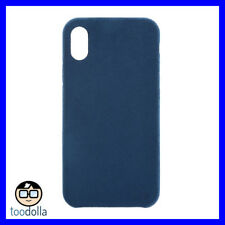 POWER SUPPORT Ultrasuede Air Jacket protection suede like case, iPhone X, Blue