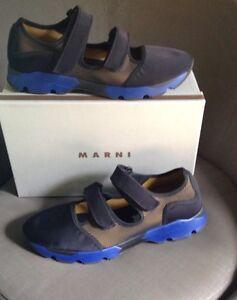 NIB $680 Men's MARNI Double Hook And Loop Sneaker Sport Sandal 43 (US 10 )