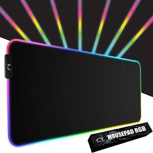 Tappetino mouse RGB xxl Mousepad 900x400x4mm gaming grande scrivania antiscivolo
