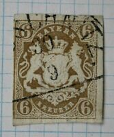 Germany Bavaria sc#18 6kr cv$50.00 used