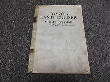 1964 Toyota Land Cruiser FJ45P-B Parts Catalog Manual Book Pick-up Truck Body