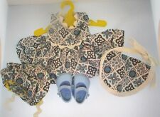 """Vintage Dress Bloomers Bonnet for 8"""" Vogue Doll w/ Ginny Plastic Shoes Outfit Se"""