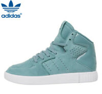 Adidas Originals Leather Tubular Invader 2.0 Green White Trainers Shoes 4.5 - 7
