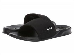 Reef One Slide Sandals - Men's - 8, Black