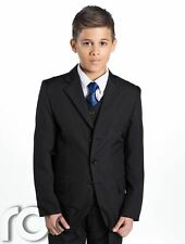 Boys Black Suit, Boys Communion Suit, Chalice Tie, First Communion, 5-14 years