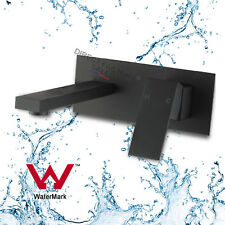 Bathroom square water Bath spout Basin Mixer tap black Wall vanity Faucet brass
