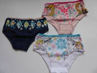 Frozen Eiskönigin Disney Mädchen Unterhosen Slips 3er Pack Gr. 116/122