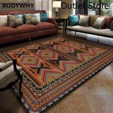 National Style Carpet Anti-slip Floor Mat Floral Rug Carpet Flannel Big Area Rug