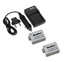 Charger + TWO Camera Batteries CANON LP-E5 EOS 450D 500D Rebel XSi BATTERY x2