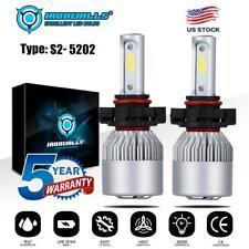 Pair COB LED Headlight 5202 H16 6000K White Fog Driving Lights Lamps HID Pair