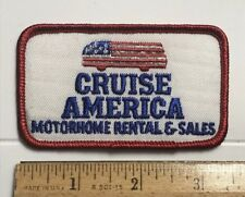 Cruise America RV Motorhome Rental & Sales Stars Stripes Embroidered Patch Badge
