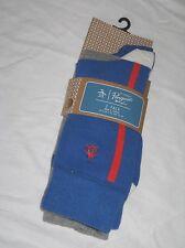 BNWT ORIGINAL PENGUIN One Stripe Socks  Blue  Grey    2 Pairs