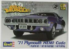 Revell Monogram 1971 Plymouth Hemi Cuda Hardtop Model Kit 1/24
