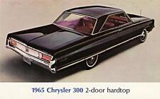 Old Print.  Black 1965 Chrysler 300 Auto Advertisement