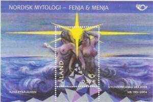 Natural Erotic Naked Girl Mythical Sheet Aland Finland MNH 2004