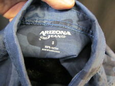 Arizona Jeans camo shirt blue black Brand NEW sz S button down casual unisex