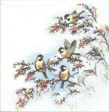 Lot de 2 Serviettes en papier Oiseaux sur la branche Decoupage Collage