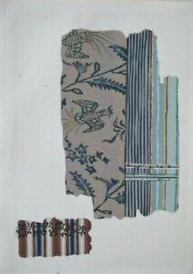 HISTORICAL KIMONO / FABRIC DESIGNS V - Original Meiji Japanese Woodblock Print