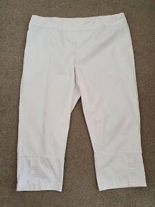 TS Taking Shape Virtuelle White Elastic Waist Button Pants Size 18