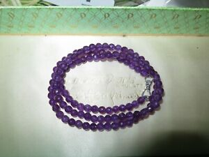 """Beautiful 4mm faceted natural purple Alexandrite necklace 18"""""""