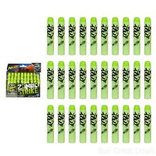 Nerf Dart Refill Kit Zombie Strike 30 Pack Green Foam Bullets Boys Play Gun New