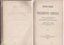 Book General Treaty of criminal proceedings Tratado General de Procedimientos cr