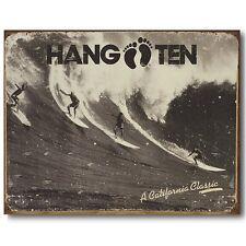Vintage Replica Tin Metal Sign Pier Group ocean Surf Board Hang Ten Beach 1908
