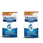 2 PK Mucinex MAXIMUM STRENGTH 12 Hour Expectorant 1200mg 28Ct EXP 08/22