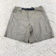 "Mountain Hardwear Hiking Shorts Belted Mens Size Large Brown Outdoor Nylon 34"""