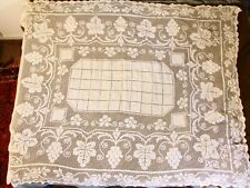 Antique Hand Crocheted Table Clothe 54 X 70