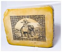 Piedra Litográfica Antigua Primeros 900 Elefante 16x13x5 CM
