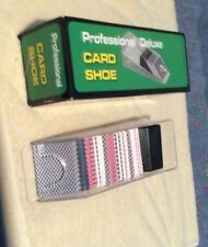 Professional Deluxe Card Shoe Holds 6 Decks (6 Decks of Cards Included)