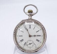 Jugendstil 800 Silber Taschenuhr Uhr 189