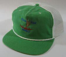 Kauai Surf Golf Club Hat Trucker Mesh Tiki Resort Wear Happy Cappers USA Vtg