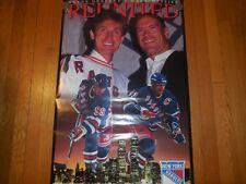 1996 wayne gretzky and mark messier- reunited poster