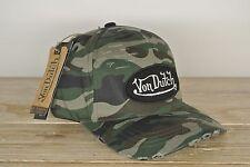 Von Dutch Cap Camo used black Patch Truckercap army camouflage NEU Basecap van