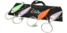 """4 Pack Fully Rigged 7.5"""" A Toda Madre Wahoo Lure Set by MagBay Lures"""