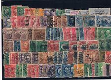 Estados Unidos. Tres fichas conteniendo 217 sellos usados diferentes epocas