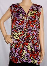 """MILLERS"" Excellent Preloved Condition - Size 20 - RED/PURPLE Sleeveless Top"