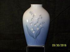 Vintage Copenhagen Porcelain B&G Denmark Porcelain Floral Design Vase