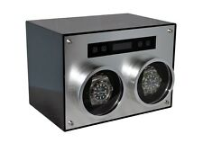 Pangaea D700 Double Metal Dual 2 Watch Winder with Cover Carbon Fiber Box Case