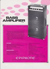 VINTAGE AD SHEET #2197 -  1972  EPIPHONE BASS AMPLIFIER E-30B
