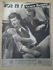 HÖRZU 28 1949 (1)* TV: 3.-9.7. Magda Schneider Ruth Zillger Fam.Bremermann