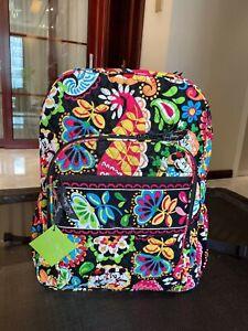 NEW Vera Bradley Disney Parks MIDNIGHT WITH MICKEY Black Campus backpack blue