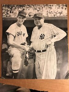 "Ted Williams, Babe Ruth 9"" X 10"" Picture Print"