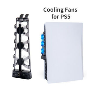 For PS5 Cooling Fans with LED Indicator for Sony PS5 Console Cooling Cooler