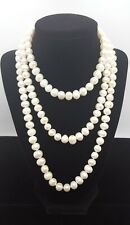 Vintage 925 Sterling Silver Fresh Water Baroque Pearl Necklace