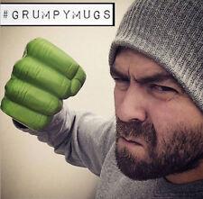400ML Ceramics Green Hulk Shaped Mug Milk Coffee Cup Water Funny Cup Fist